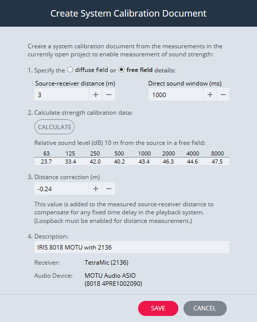 Create System Calibration Document